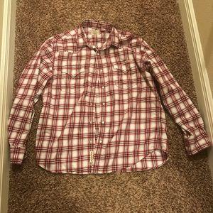 Lucky 🍀 brand plaid shirt western wear xl